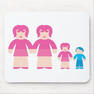 Mujer y niños de la mujer tapetes de ratones