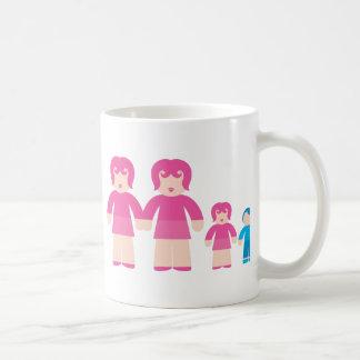 Mujer y niños de la mujer taza