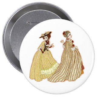 mujeres 1700's pin redondo 10 cm