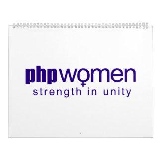 Mujeres 2010 del PHP (grandes) Calendarios De Pared