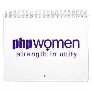 Mujeres 2010 del PHP (pequeñas) Calendarios