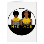 Mujeres africanas con los collares tribales tarjeton