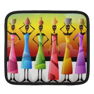 Mujeres africanas con los jarros de agua coloridos fundas para iPads