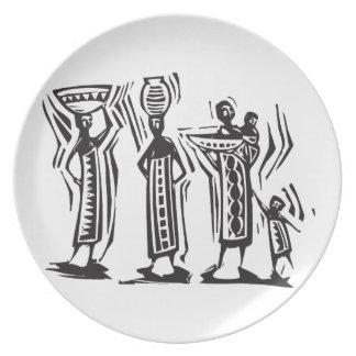 Mujeres africanas plato