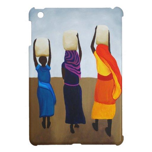 Mujeres africanas que llevan la carga pesada iPad mini protector