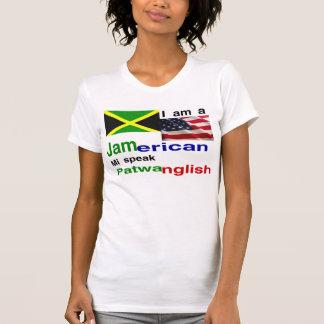 Mujeres americanas jamaicanas camisetas
