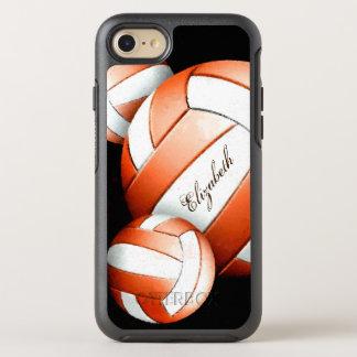 Mujeres anaranjadas y blancas de los voleiboles funda OtterBox symmetry para iPhone 7