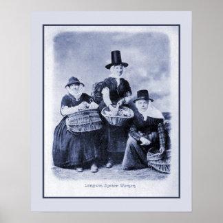 Mujeres antiguas de la ostra Galés del vintage Póster