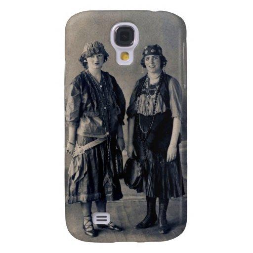 Mujeres antiguas de los años 20 en trajes gitanos funda para galaxy s4