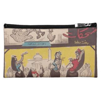 Mujeres árabes veladas dibujo animado, revista del