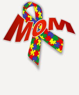 Mujeres Bella de la mamá del autismo 3/4 camiseta Polera