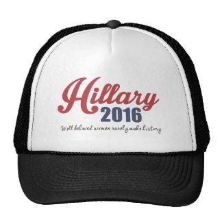 Mujeres bien comportadas Hillary 2016 Gorras