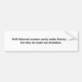 Mujeres bien comportadas pegatina para auto