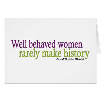 Mujeres bien comportadas tarjetas