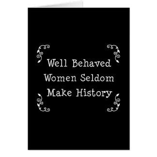 Mujeres bien comportadas tarjeta de felicitación