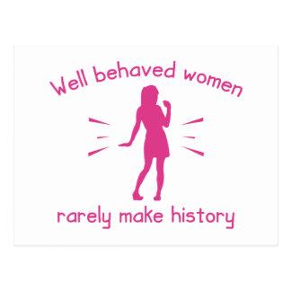 Mujeres bien comportadas tarjetas postales