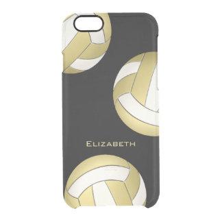 mujeres blancas del voleibol del oro abstracto funda clear para iPhone 6/6S