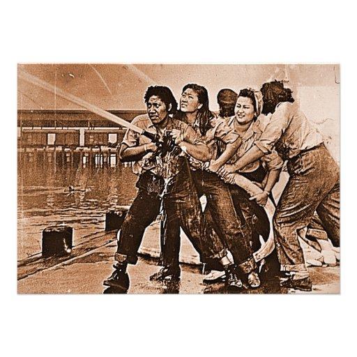 Mujeres bomberos Pearl Harbor 7 de diciembre Anuncio
