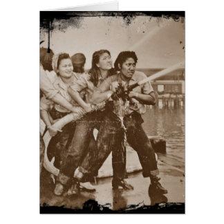 Mujeres bomberos Pearl Harbor 7 de diciembre Tarjeta De Felicitación