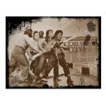 Mujeres bomberos Pearl Harbor 7 de diciembre Postales