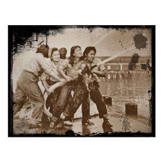 Mujeres bomberos Pearl Harbor 7 de diciembre Postal