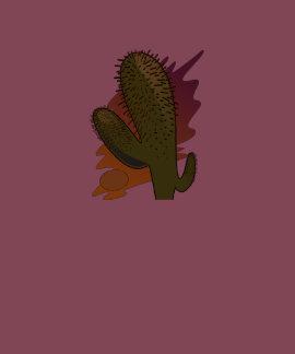 Mujeres Burdeos móvil de cactus T-shirt