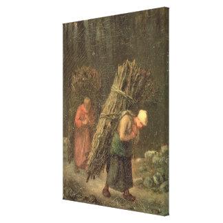 Mujeres campesinas con la maleza, c.1858 lienzo envuelto para galerias