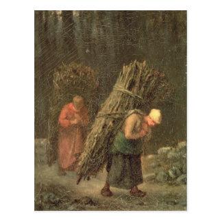 Mujeres campesinas con la maleza, c.1858 postal