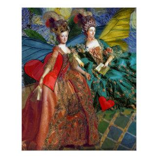 Mujeres caprichosas góticas de la mariposa del perfect poster