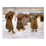 Mujeres carbonosas de Vincent van Gogh Postal