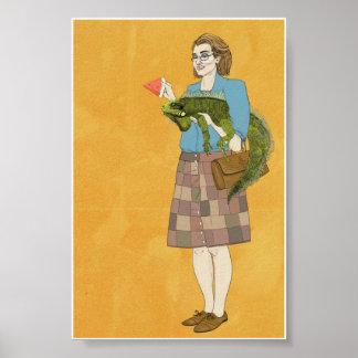 Mujeres con la iguana 4x6 impresiones