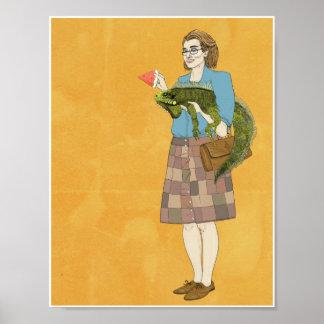 Mujeres con la iguana 8.5x11 posters