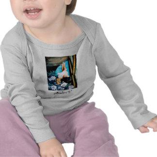 Mujeres con las flores, correa eslabonada infantil camisetas