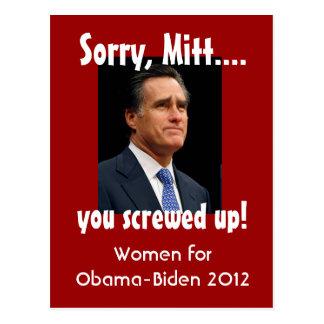 Mujeres contra el mitón tarjetas postales