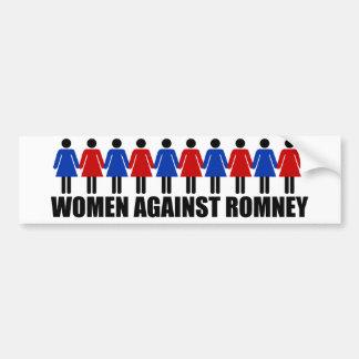 Mujeres contra Romney Pegatina De Parachoque