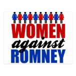 Mujeres contra Romney Tarjetas Postales