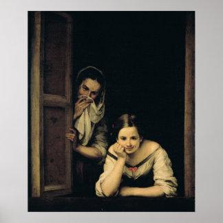 Mujeres de Galicia en la ventana, 1670 Posters