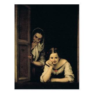 Mujeres de Galicia en la ventana, 1670 Postal