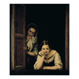 Mujeres de Galicia en la ventana, 1670 Póster