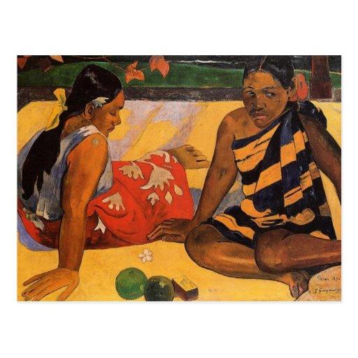 Mujeres de Gauguin Polinesia francesa Tahití Postal