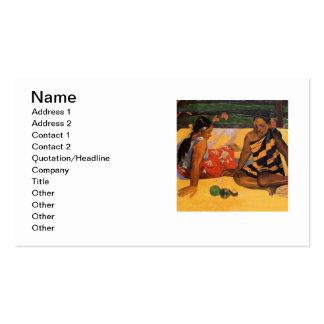 Mujeres de Gauguin Polinesia francesa Tahití Tarjetas Personales
