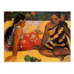 Mujeres de Gauguin Polinesia francesa Tahití Tarjeta Postal