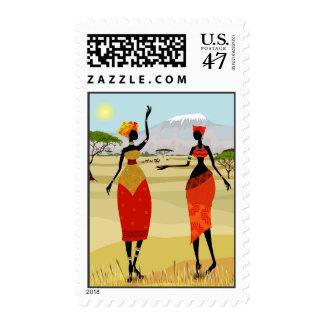 Mujeres de la animación de Kenia Sellos Postales