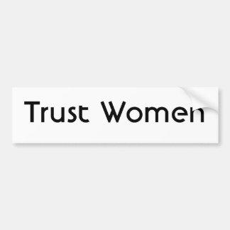 Mujeres de la confianza pegatina para auto