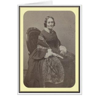 Mujeres de la guerra civil, retrato 5 del estudio tarjeta de felicitación
