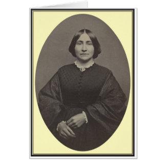 Mujeres de la guerra civil, retrato 9 del estudio tarjeta de felicitación