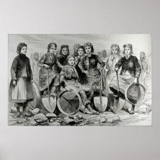 Mujeres de la Hoyo-Frente de Lancashire Póster