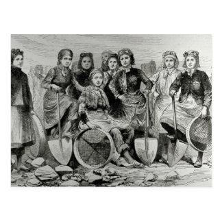 Mujeres de la Hoyo-Frente de Lancashire Tarjetas Postales