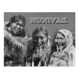 Mujeres de la isla de Nunivak, Alaska Postal