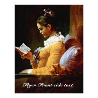 """Mujeres de la lectura de Fragonard Jean Honoré (el Folleto 8.5"""" X 11"""""""